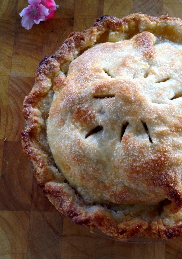 Mom's Apple Pie; spiraled apples