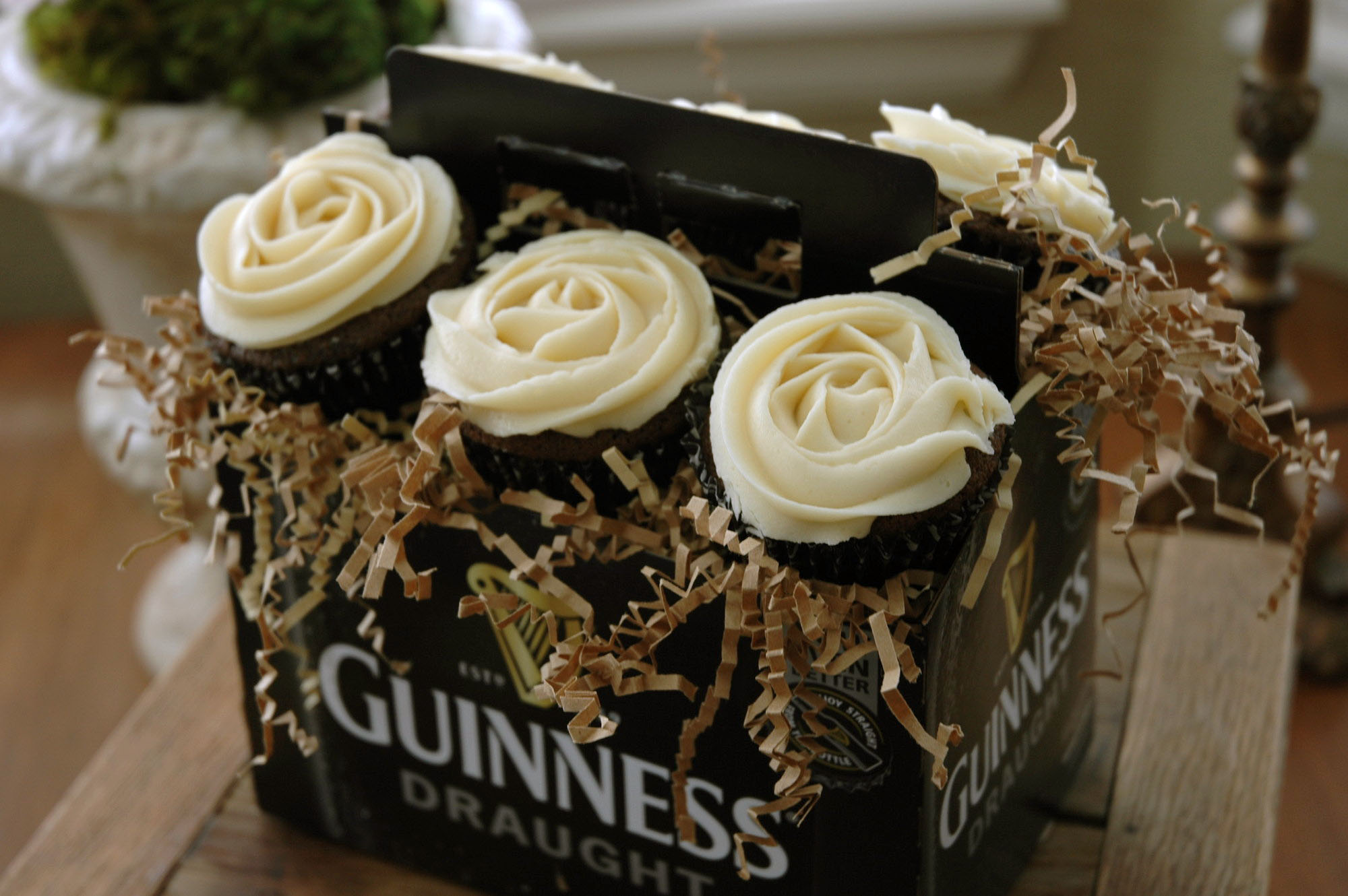 Chocolate Guinness Cupcakes with Baileys Irish Cream Butter Frosting