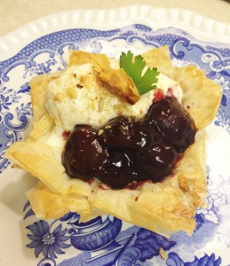 Mini Cherry Phyllo Pie