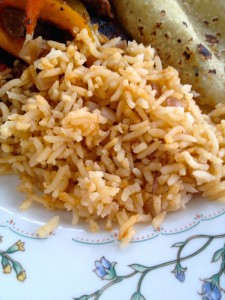 Spanish Rice Close up
