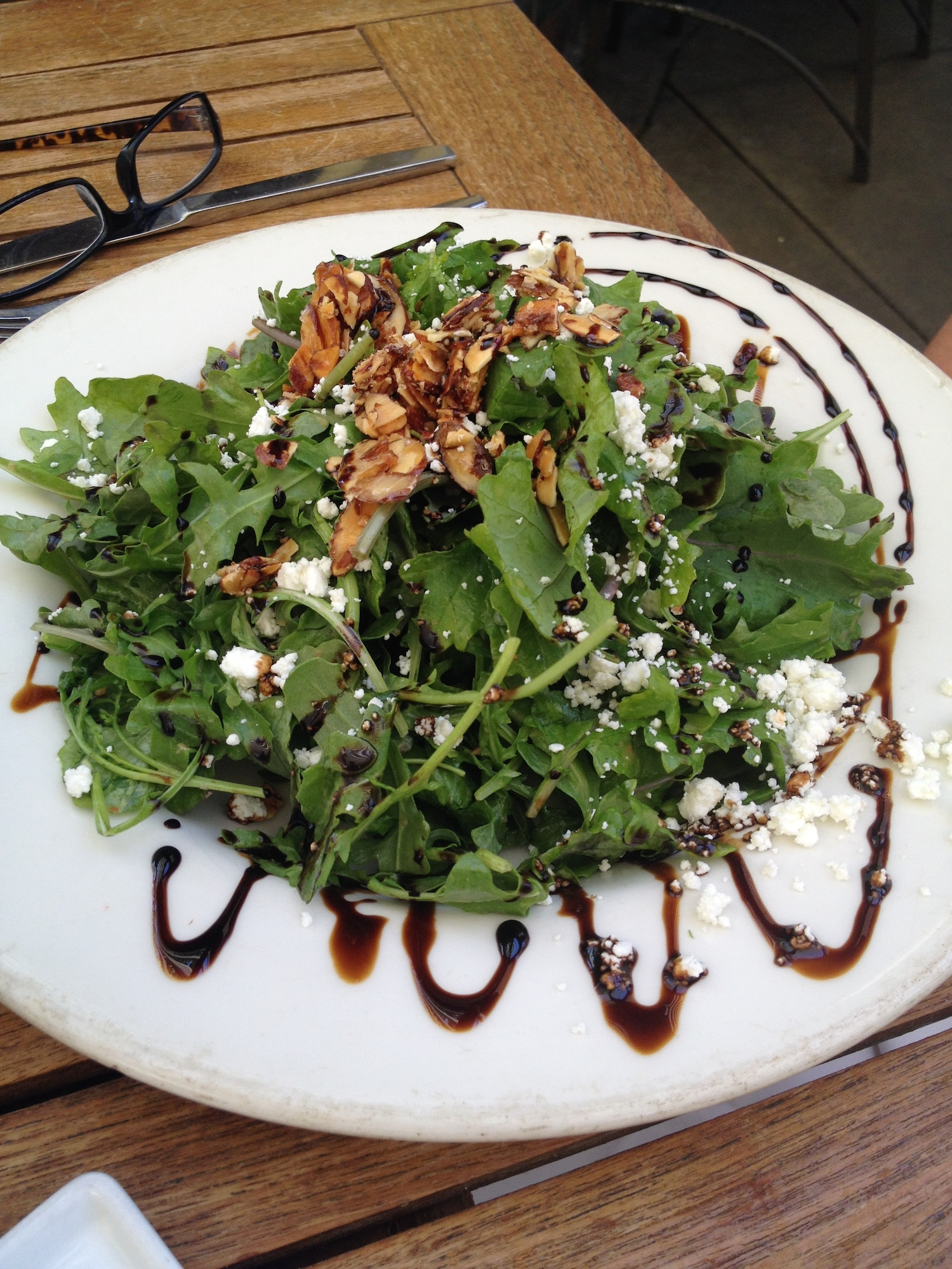 Public House Restaurant, Arugula Salad with feta cheese and candied almond bark