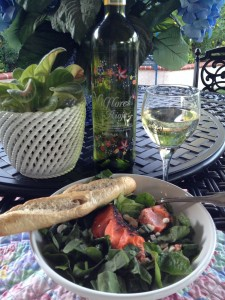 King Salmon with Arugula and Spinach salad, rachelsrecipecollection.com