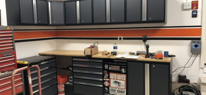 Harley Davidson Garage and Costco cabinets