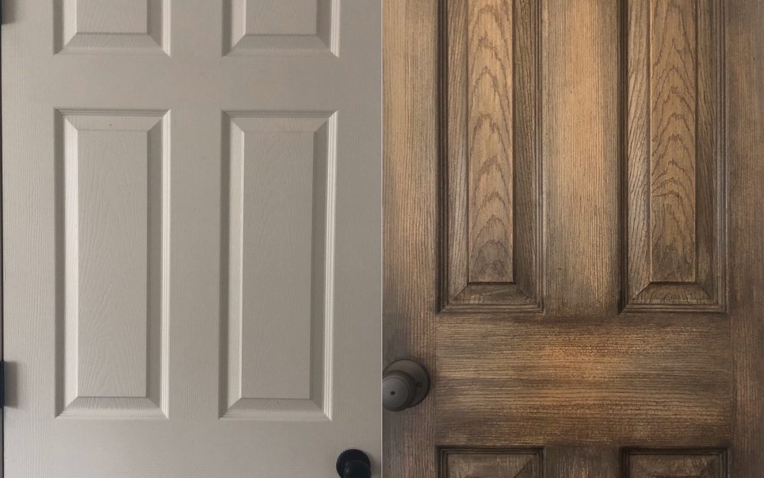 Before and After – Builder Grade Interior Doors Turned Into A Distressed Beauties!